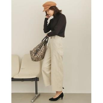 パンツ・ズボン全般 - Re: EDIT まっすぐ落ちるIラインシルエットで上品に フロントボタンハイウエストコーデュロイパンツ ボトムス/パンツ/フルレングス