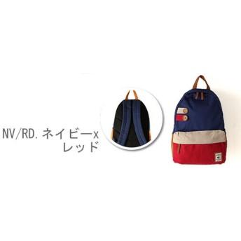 バックヤードファミリー アニモ ANIMO #YN14 0118 2ボタンリボンデイバッグ レディース ネイビー 2ボタンリュック 【BACKYARD FAMILY】