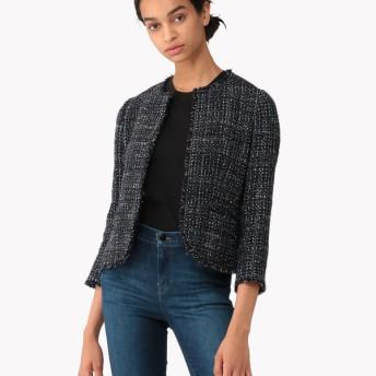 【Theory】Sparkle Tweed Feminine Slim Jkt