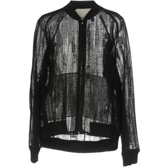 《セール開催中》3.1 PHILLIP LIM レディース スウェットシャツ ブラック 2 ポリエステル 100% / シルク / アクリル / ナイロン / ウール