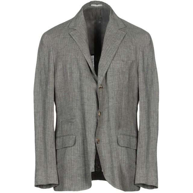 《期間限定セール開催中!》BRUNELLO CUCINELLI メンズ テーラードジャケット グレー 48 麻 100%