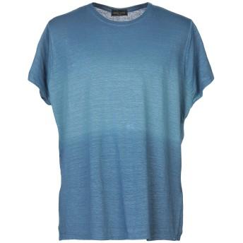 《セール開催中》ROBERTO COLLINA メンズ T シャツ パステルブルー 46 96% 麻 4% ポリウレタン