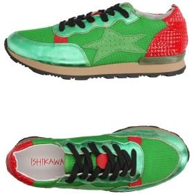 《セール開催中》ISHIKAWA メンズ スニーカー&テニスシューズ(ローカット) グリーン 39 革 / 紡績繊維