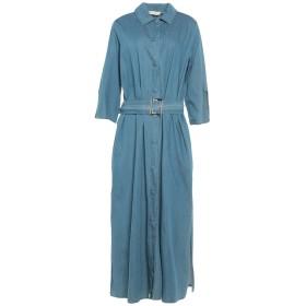 《セール開催中》WEILI ZHENG レディース 7分丈ワンピース・ドレス ブルー S コットン 100%