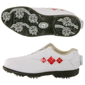 フットジョイ(FootJoy) ゴルフシューズ 18 Eコンフォート ボア WT/RD 98625XW (Lady's)