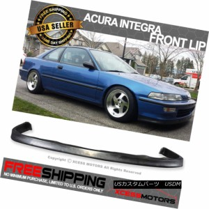 Fits 92-93 Acura Integra JDP Style Front Bumper Lip PU Poly Urethane