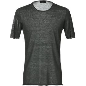 《期間限定セール開催中!》ROBERTO COLLINA メンズ T シャツ ダークグリーン 48 88% 麻 12% ナイロン
