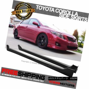 Fits 08-12 Honda Accord 4Door OE Style Side Skirt Polypropylene PP