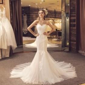 e27110b08ec01 ウェディングドレス 超豪華 結婚式 花嫁 お姫系 手作り 一字肩 新品 マーメイド