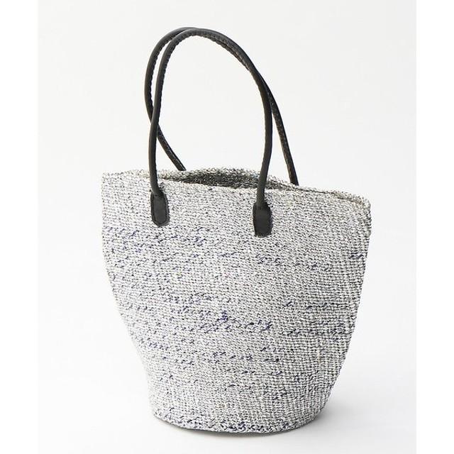 collex / コレックス メタルプラスティックサイザル トートバッグ