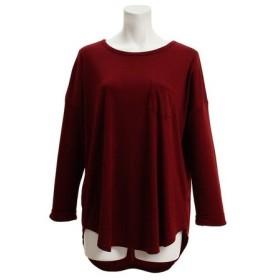 リラクロ(relaclo) ポケット付き ロールアップTシャツ 18374054BRD (Lady's)