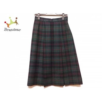 ダックス DAKS スカート サイズ66-92 レディース グリーン×ダークネイビー×レッド チェック柄 スペシャル特価 20190626