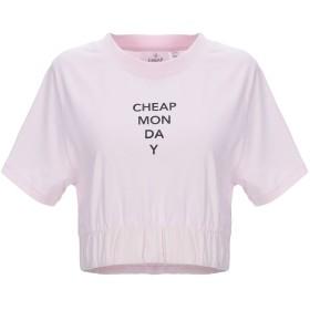 《期間限定 セール開催中》CHEAP MONDAY レディース T シャツ ピンク XS オーガニックコットン 100%
