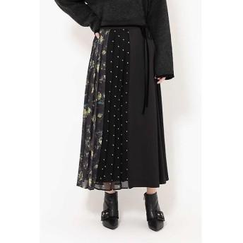 ROSE BUD / ローズ バッド プリントミックススカート