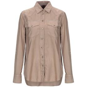 《セール開催中》BRUNELLO CUCINELLI レディース シャツ カーキ L コットン 100% / 真鍮/ブラス