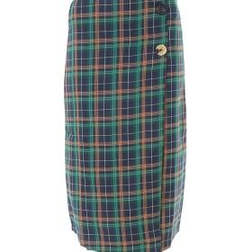 fifth チェックサイドボタンタイトスカート