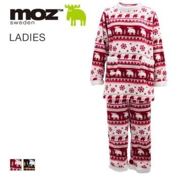 (モズ)moz エルク レディース ボア ふわふわ 長袖 チュニック セットアップ パジャマ ルームウェア 上下セット あったか [ 大きいサイズ LLまで ]