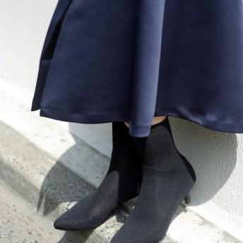 Le Talon GRISE 5.5cmソックスショートブーツ◆ ブラック 23