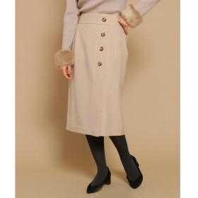 Bon mercerie / ボン メルスリー 【SSサイズあり】ラップ風ボタンタイトスカート