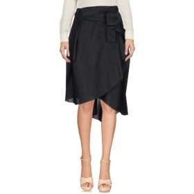 《期間限定 セール開催中》MARIA GRAZIA SEVERI レディース 7分丈スカート ブラック 40 アセテート 75% / シルク 25%