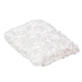 赤ちゃん 毛布 ブランケット バラ マット ローズパタン 写真撮影 背景 小道具 快適 柔らかい 美しい 全10色 - 白