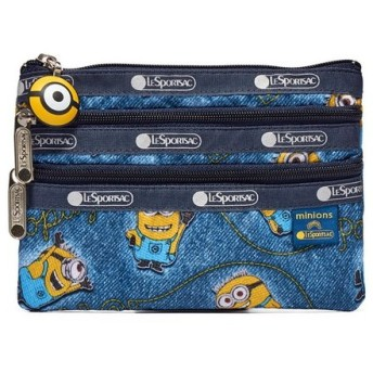LeSportsac ポーチ SPECIAL 3 ZIP COSMETIC 8280 レディース DENIM PATCHES G508 レスポートサック