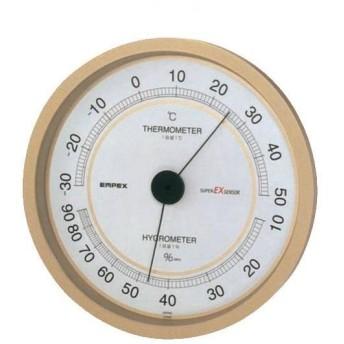 EMPEX(エンペックス気象計) スーパーEX高品質温・湿度計 掛け型 シャンパンゴールド EX-2748