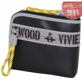 17216892d522 ヴィヴィアンウエストウッド 財布 折財布 二つ折り ファスナープリント ブラック Vivienne Westwood