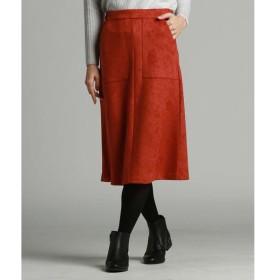 LAUTREAMONT / ロートレアモン 【WEB別注】ベーシックカラートップスに最適なカラーフェイクスエードスカート