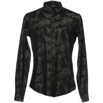 《セール開催中》ARMANI JEANS メンズ デニムシャツ ブラック 3XL コットン 100%