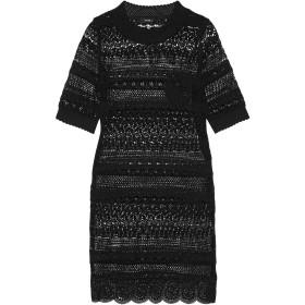 《送料無料》GOEN.J レディース ミニワンピース&ドレス ブラック S コットン 100% / ポリエステル