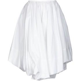 《期間限定セール開催中!》JIL SANDER レディース ひざ丈スカート ホワイト 38 コットン 100%