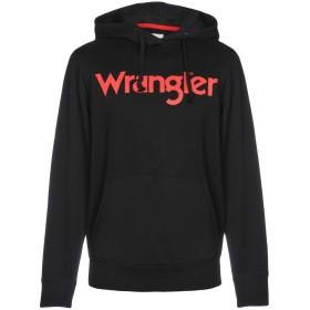 《セール開催中》WRANGLER メンズ スウェットシャツ ブラック S コットン 100%