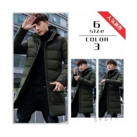 予約 フーデットミリタリーロング中綿ジャケット全3色 メンズ アウター コート ダウン ミディアム ビジネス アウトドア 韓国ファッション 秋冬
