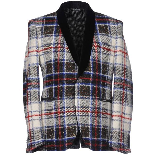 《セール開催中》BRIAN DALES メンズ テーラードジャケット アイボリー 50 ウール 37% / ナイロン 26% / シルク 15% / モヘヤ 11% / 毛(アルパカ) 11%