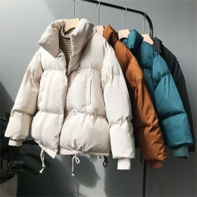 ※新生活応援SALE※ 韓国ファッション ゆったりする 長袖 綿入れダウンコート