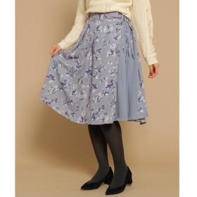 Bon mercerie / ボン メルスリー 【WEB・一部店舗限定】Supreme.La.La. 異素材フラワーラップ風スカート