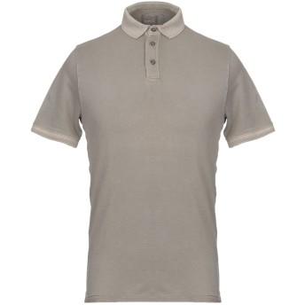《セール開催中》ALPHA STUDIO メンズ ポロシャツ ブラウン 46 95% コットン 5% ポリウレタン