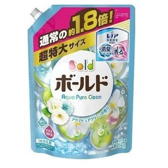 「P&G」 ボールドジェル アクアピュアクリーンの香り つめかえ用 超特大サイズ 1.26kg 「日用品」