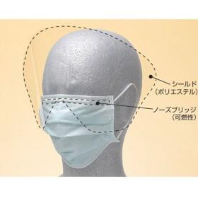 タケトラ シールド付マスク ブルー (25枚入)