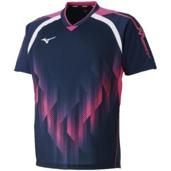 MIZUNO SHOP [ミズノ公式オンラインショップ] ゲームシャツ(卓球)[ユニセックス] 14 ドレスネイビー 82JA8501