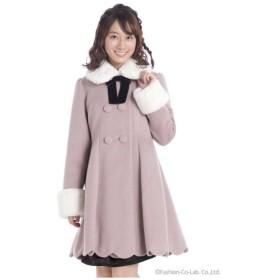 Ank Rouge(アンク ルージュ)裾スカラップドーリーコート