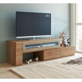 配線すっきり伸長式テレビ台シリーズ 左テレビ台タイプ 幅145〜210cmホワイトモクメ