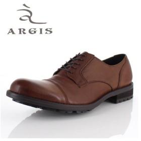 アルジス 靴 レザーシューズ メンズ 本革 ストレートチップ 外羽根式 ダークブラウン  61108 タンクソール カジュアル 革靴 日本製