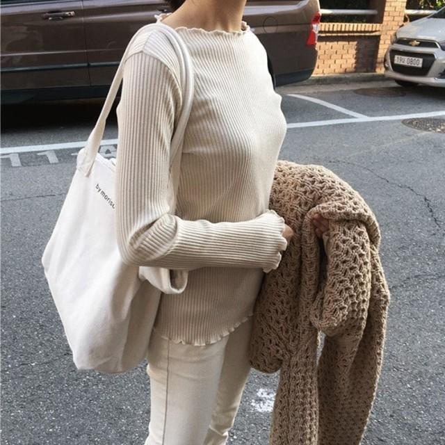 白 トートバッグ レディース 大容量 布 キャンパス バック レディース バック 通勤 通学 旅行 買い物 韓国
