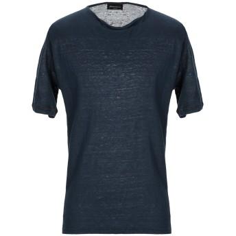 《セール開催中》ROBERTO COLLINA メンズ T シャツ ダークブルー 52 麻 100%