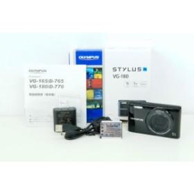 【中古】【美品】OLYMPUSオリンパス STYLUS コンパクトデジタルカメラ VG-180 1600万画素 ブラック