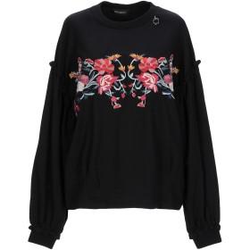 《期間限定 セール開催中》MANGANO レディース スウェットシャツ ブラック one size コットン 100%