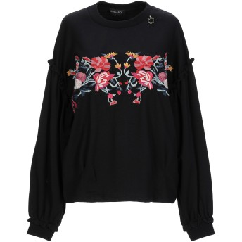 《9/20まで! 限定セール開催中》MANGANO レディース スウェットシャツ ブラック one size コットン 100%