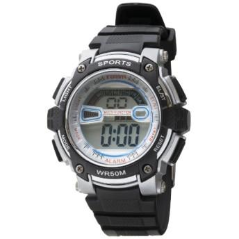 TELVA デジタルウォッチ ウレタンバンドモデル [メンズ腕時計 /電池式] TS-D155-SV